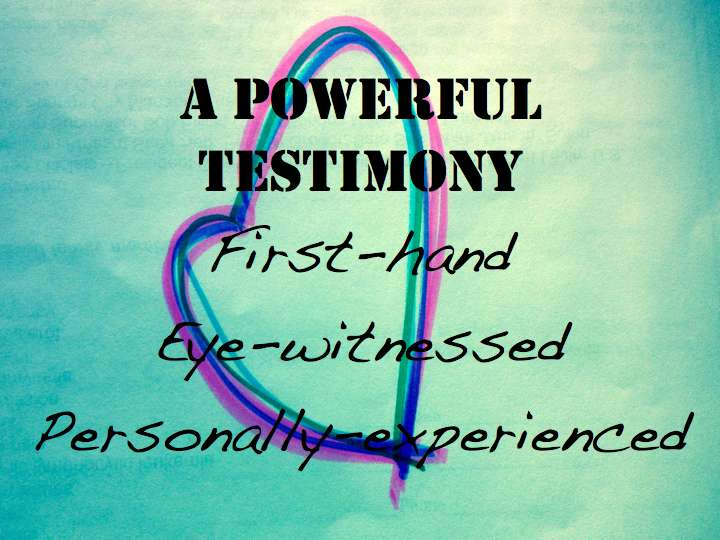 personal testimony My personal testimony louis 10/20/2010 salvation 2 comments my wife said that this army camp was really good for me because i was a different person all of a sudden.