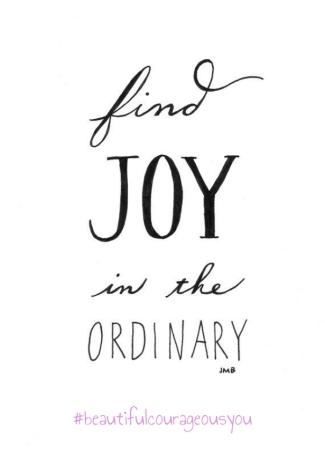 joy in the ordinary